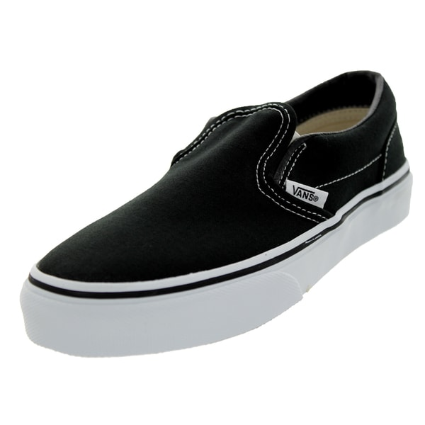 Vans Classic Slip-On Skate Shoes (Black)