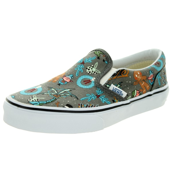 Vans Kid's Classic Slip-On (Van Doren) Holiday/Pewter Skate Shoe