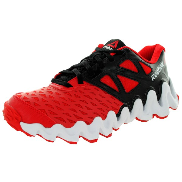 Reebok Kid's Zigtech Big N Touch Black/Red/White Running Shoe