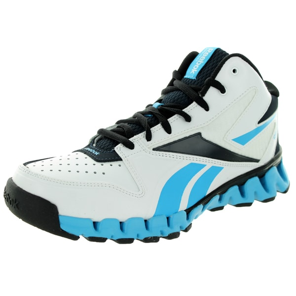 Reebok Kid's Zignano Profury White/Navy/Buzz Blue/Black Basketball Shoe