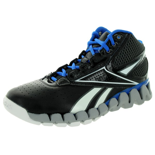 Reebok Kid's Zig Pro Future Black/Grey/Blue/White Basketball Shoe