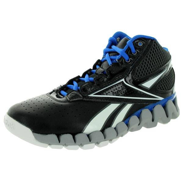 Reebok Kid's Zig Pro Future Black/Grey/Blue/White Basketball Shoe