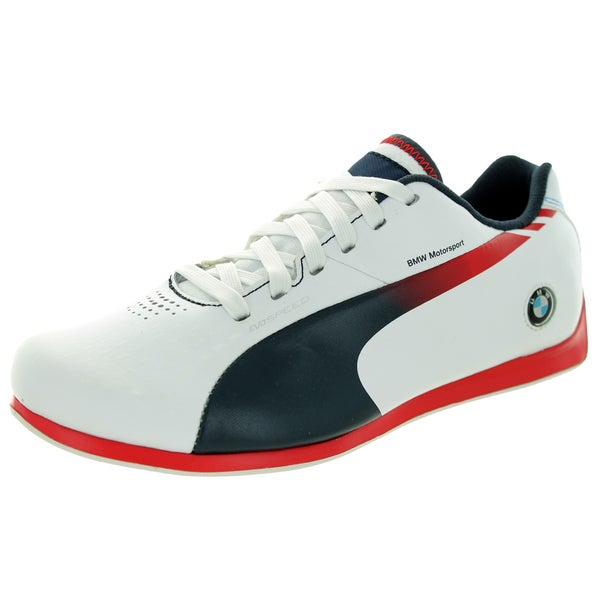 Puma Kid's Evospeed Lo Bmw 1. White/Bmw Team Blue/H.Risk Red Casual Shoe