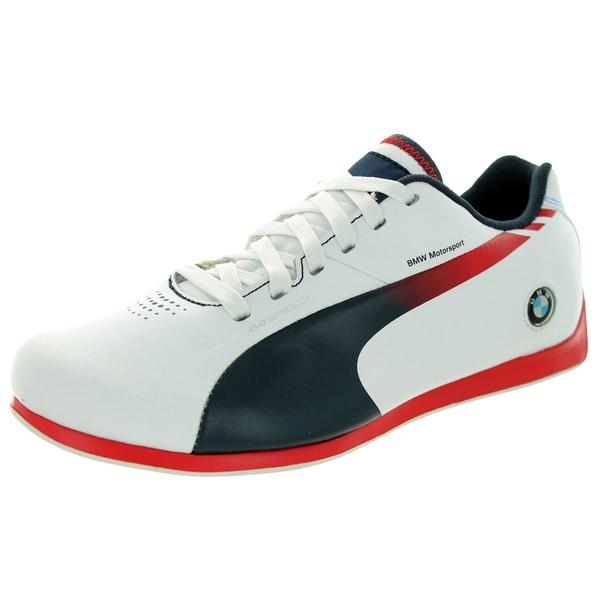 Puma Kid's Evospeed Lo Bmw 1. White/Bmw Team Blue/H.Risk Red Casual Shoe 19841687