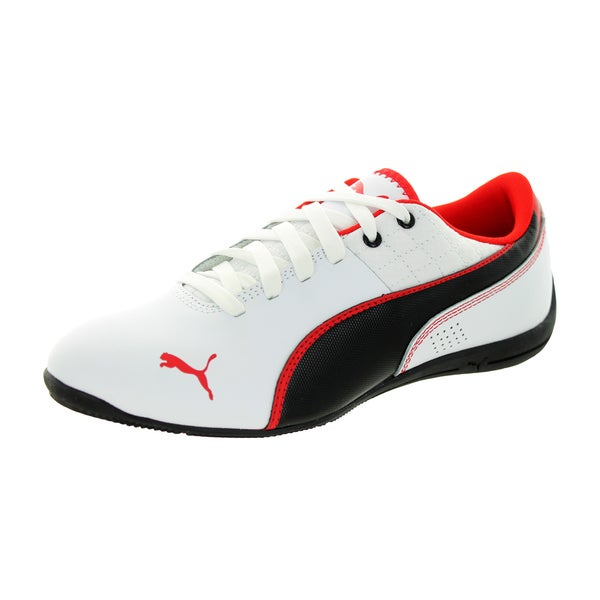 Puma Kid's Drift Cat 6 L Jr White/Black/High Risk Red Casual Shoe