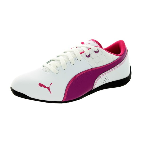 Puma Kid's Drift Cat 6 L Jr White/Vivid Viola/Beetrt.Purple Casual Shoe