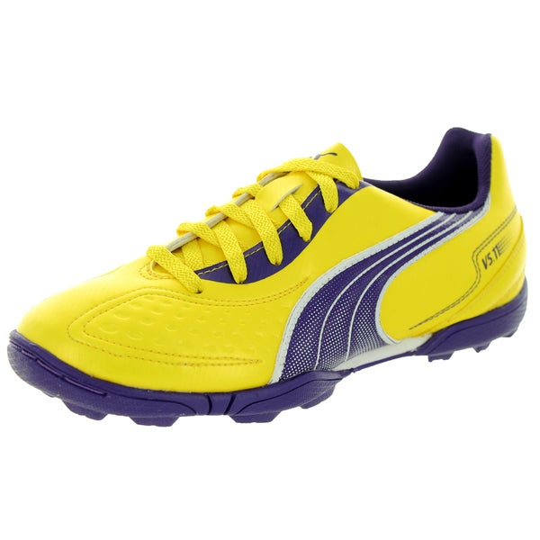 Puma Kid's V5.11 Tt Jr Vbt Yllw/Prchte Purplee/White Soccer Cleat