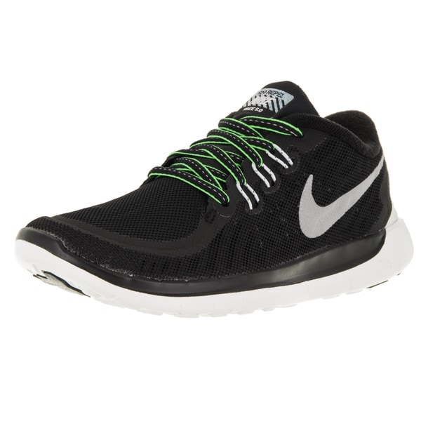 Nike Kid's Free 5.0 Flash (Gs) Black/Reflect Silver/ite Running Shoe