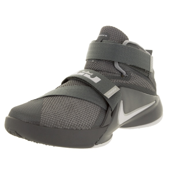 Nike Kid's Lebron Soldier IX (Ps) Cool Grey/White/Wolf Grey Basketball Shoe