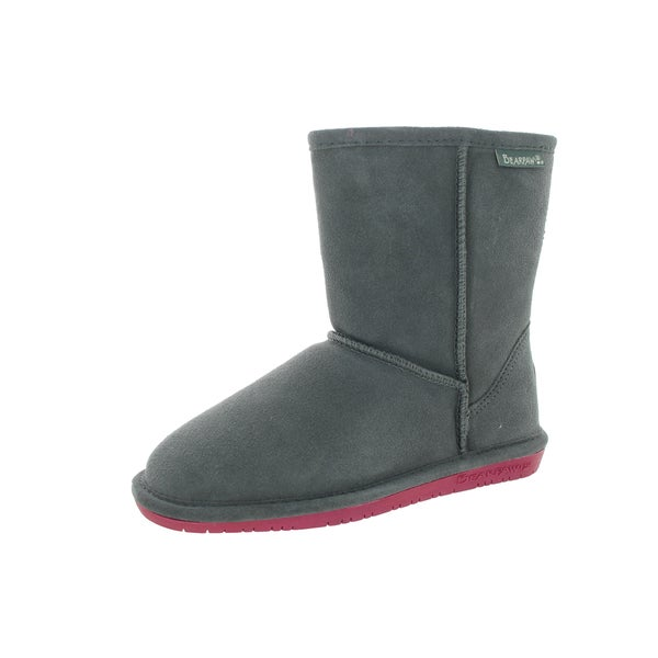 Bearpaw Kids' Emma Charcoal/Pomberry 6.5-inch Boot