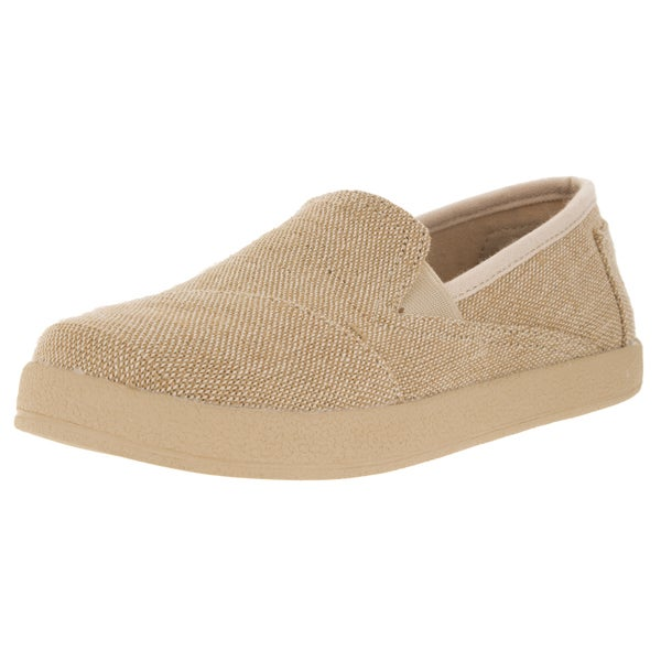Toms Kids Avalon Natural Fabric Casual Shoe