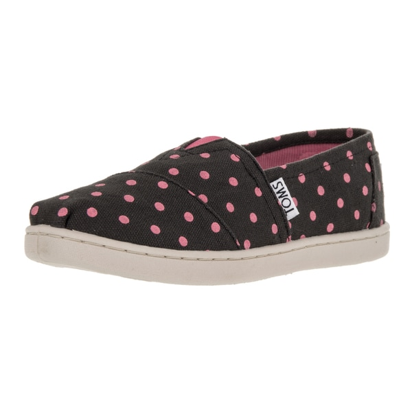 Toms Kids Classics Black Pink Casual Shoe
