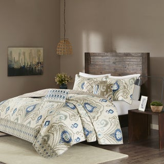 Madison Park Sabina Taupe Quilted Coverlet Set