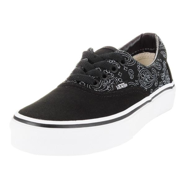 Vans Kid's Era (Bandana) Black/True White Skate Shoe