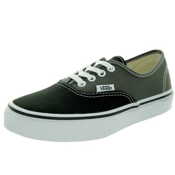 Vans Kid's Authentic (2-Tone) Black/Charcoal Skate Shoe