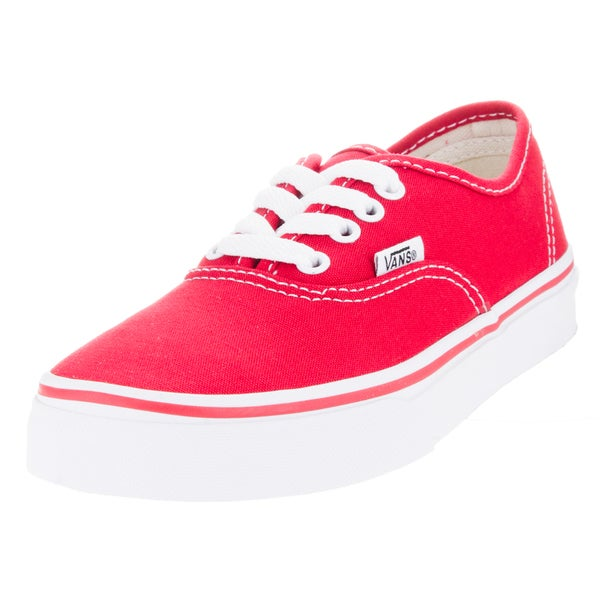Vans Kid's Authentic Red/True White Skate Shoe