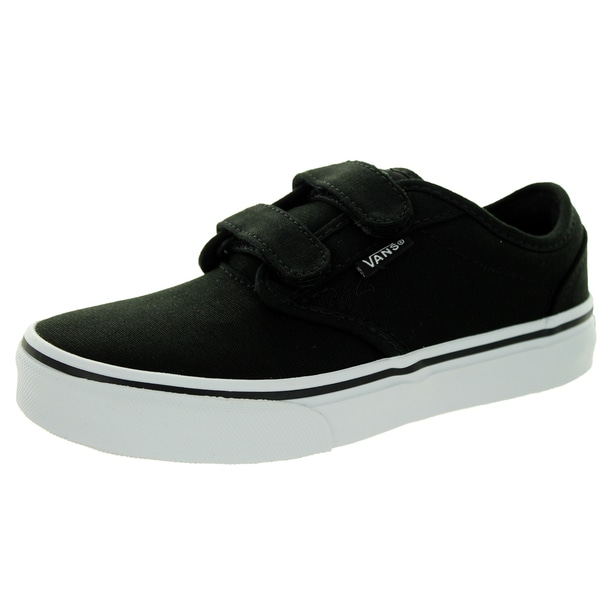 Vans Kid's Atwood (Canvas) Black/White Skate Shoe