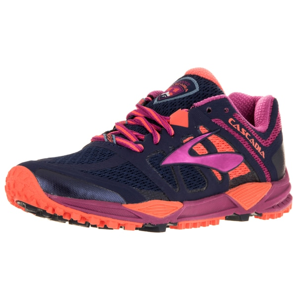 Brooks Women's Cascadia 11 Peacoat/Batonrouge/Fusioncoral Running Shoe