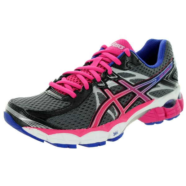 Asics Women's Gel-Flux 2 Onyx/Hot Pink/Blue Running Shoe