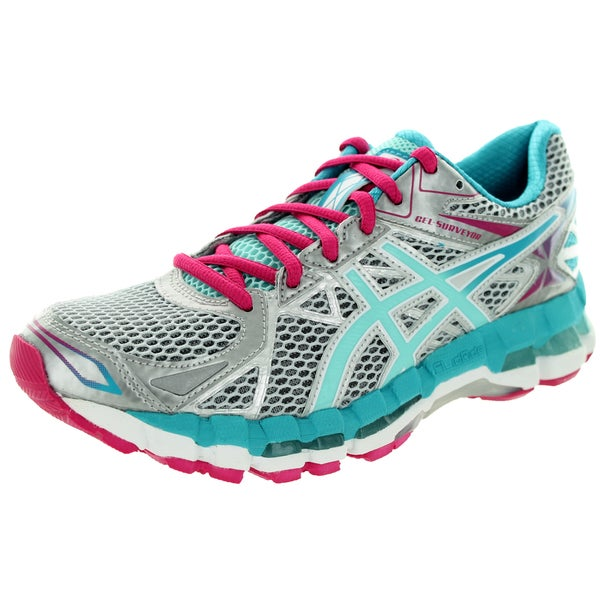 Asics Women's Gel-Surveyor 3 Lightning/Ice Blue/Hot Pink Running Shoe