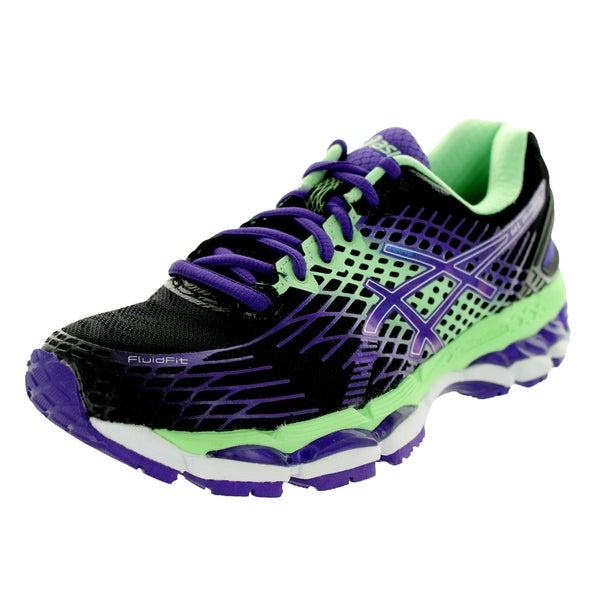 Asics Women's Gel-Nimbus 17 Onyx/Purple/Mint Running Shoe