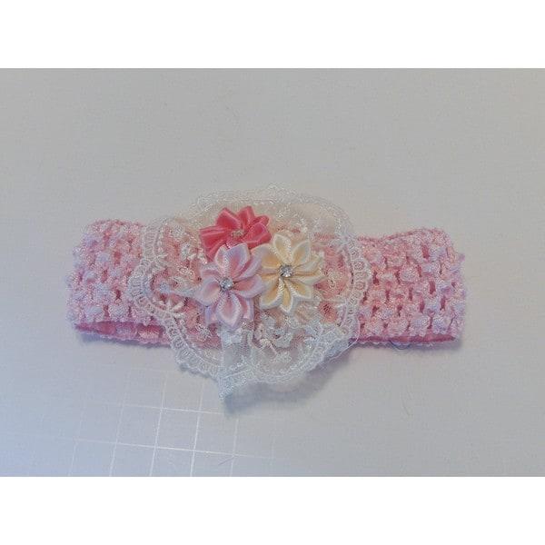 Girls Vintage Style Flower Headband