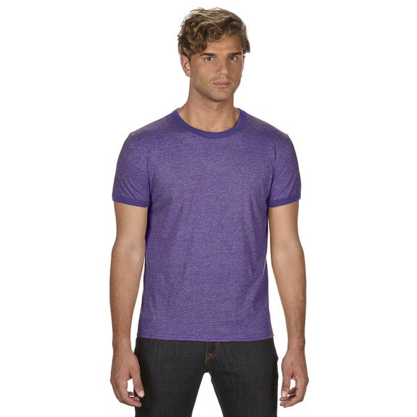 Trim Fit Men's Heather Purple/Triblend Purple Jersey T-Shirt