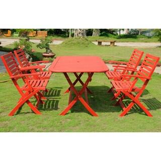 International Caravan Potenza Acacia Hardwood Outdoor Folding Dining Set (Set of 5)