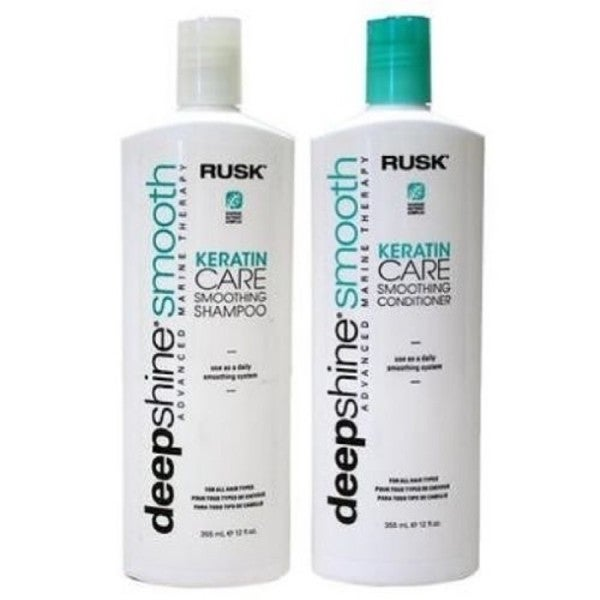 Rusk DeepShine Smoothing Keratin Care 12-ounce Shampoo and Conditioner Duo