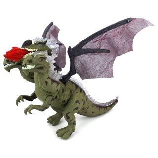Velocity Toys Dino Kingdom Three-headed Dragon Walking Toy Dinosaur Figure (Colors May Vary)