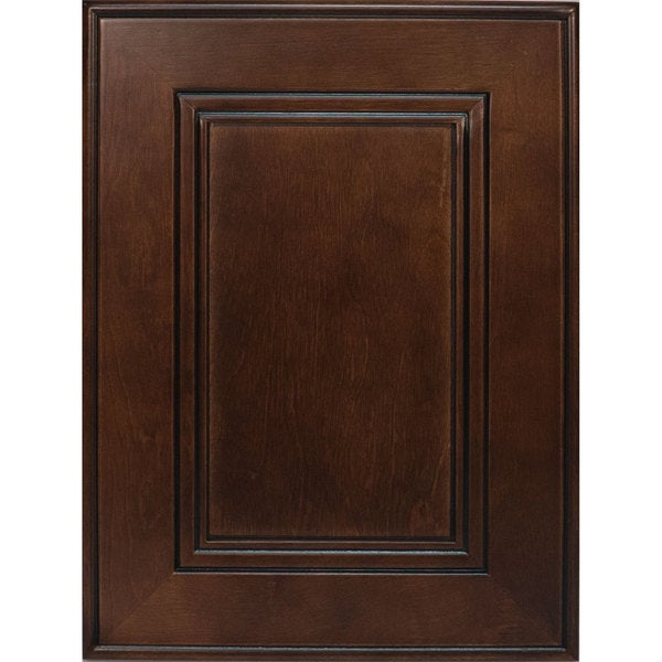 Everyday Cabinets Cherry Mahogany Brown Leo Saddle Cabinet Sample Door