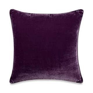 Tracy Porter Kit 20-inch Purple Velvet Decorative Pillow