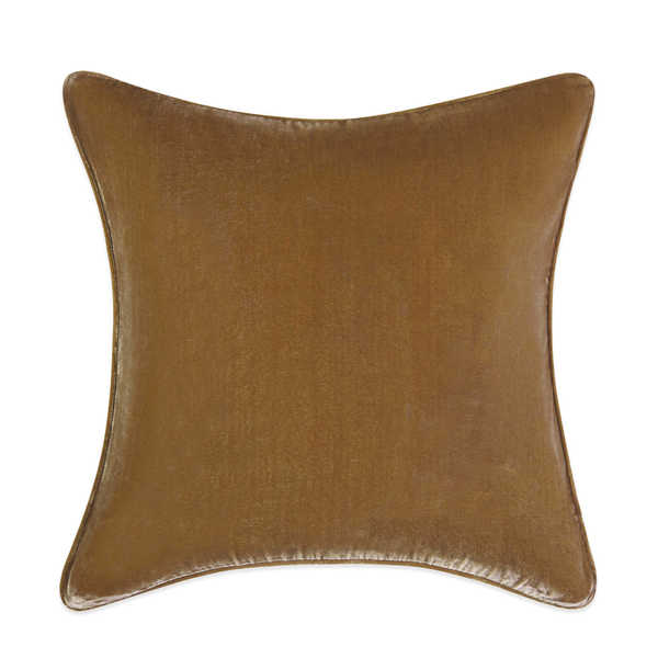 Tracy Porter Gemma Velvet Solid Rust 20-inch Decorative Pillow