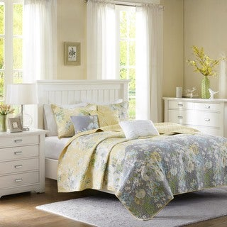 Madison Park Addison Yellow Quilted 6-piece Coverlet Set