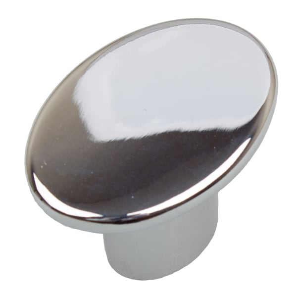 GlideRite 1.5-inch Polished Chrome Oval Cabinet Knobs (Pack of 10 or 25)