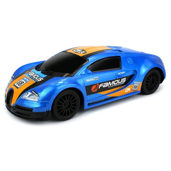 Velocity Toys Famous Racing Exotic Remote Control RC Car 1:16 Scale Size Ready To Run (Colors May Vary)