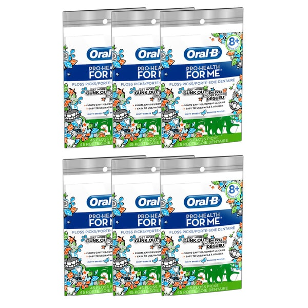 Oral-B Pro-Health for Me 45-count Minty Breeze Floss Picks (Pack of 6) -  PROCTOR & GAMBLE, 80222707