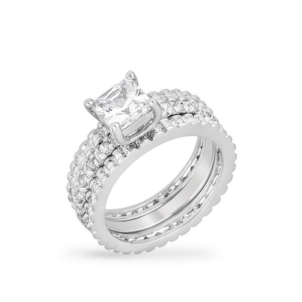 Kate Bissett Bridal Triple Ring Set