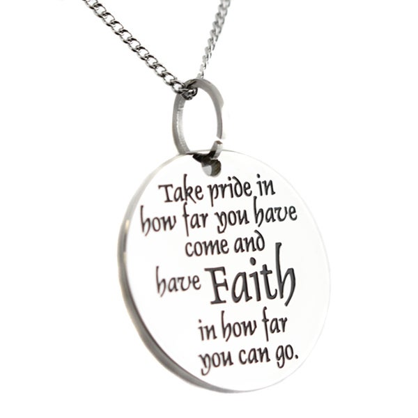 Faith Pride Disc Pendant