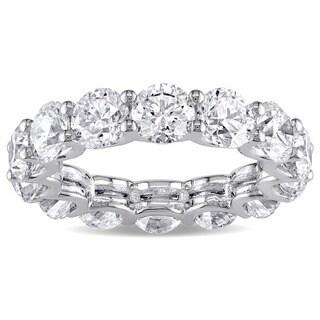 Miadora Signature Collection 18k White Gold 6 1/2ct TDW Certified Diamond Eternity Ring (G-H, SI1-SI2)(IGI)