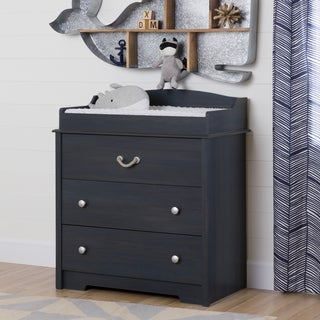 South Shore Aviron Blueberry Changing Table with Drawers