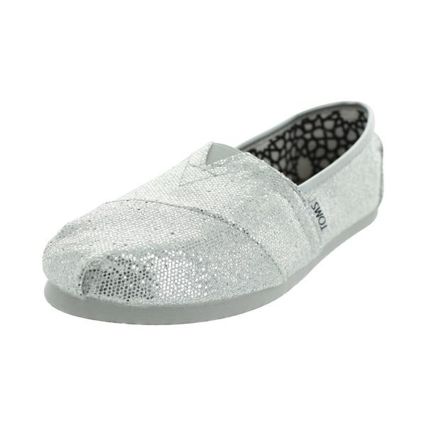 Toms Glitter Classics Casual Shoes (Silver Glitter)