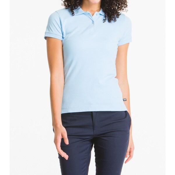 Lee Juniors Blue Short-sleeve Pique Polo