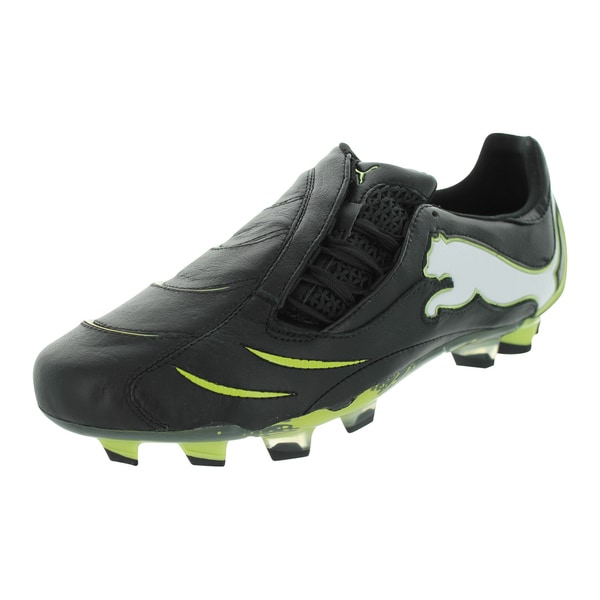 Puma Powercat 1.10 Fg Soccer Cleats (Black/White/Wild Lime)