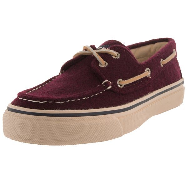 Sperry Top-Sider Men's Bahama 2-Eye Wool Burgundy Boat Shoe