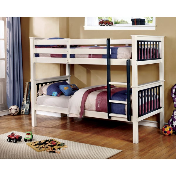 Furniture of America Piers II Two-tone Blue/White Bunk Bed