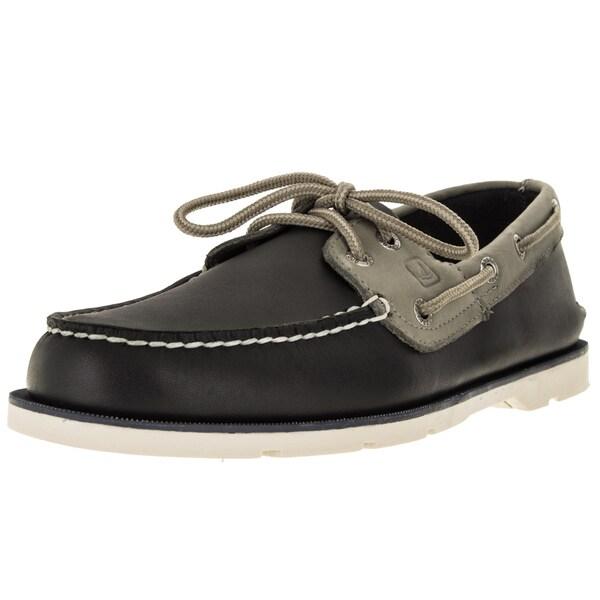 Sperry Top-Sider Men's Leeward 2-Eye Navy/Ash Boat Shoe
