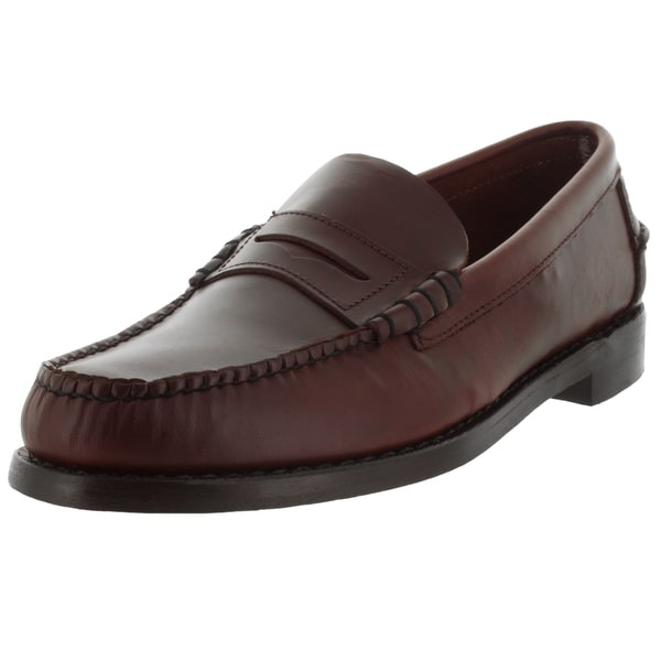 Sebago Men's Classic E Brown Oiled Waxy Loafers & Slip-Ons Shoe