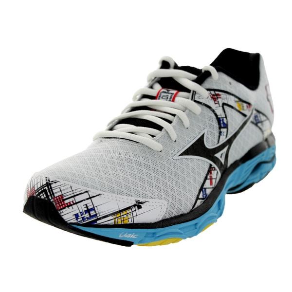 Mizuno Women's Wave Inspire 10 White/Black/Blue Running Shoe