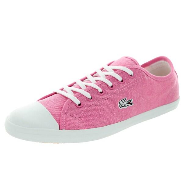 Lacoste Women's Ziane Sneaker Ens Spw Pink/Pink Casual Shoe